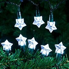 Robert Dyas Mains Operated Star LED String Lights - Ice White