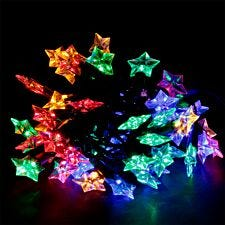 Robert Dyas Mains Operated Star LED String Lights - Multi-Coloured