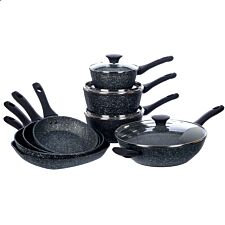 Salter Megastone 8-Piece Pan Set