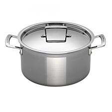 Le Creuset 3-Ply Stainless Steel Deep Casserole 24cm