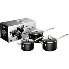 Le Creuset Toughened Non-Stick 3 Piece Saucepan Set