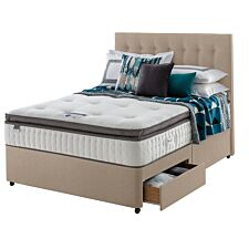 Silentnight Mirapocket Geltex 1000 2 Drawer Divan Bed - Sandstone