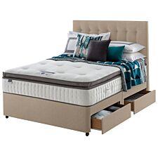 Silentnight Mirapocket Geltex 1000 4 Drawer Divan Bed - Sandstone