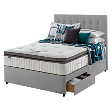 Silentnight Mirapocket Geltex 1000 2 Drawer Divan Bed - Grey