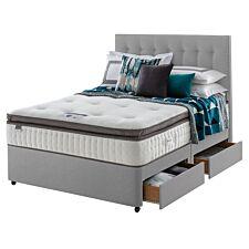 Silentnight Mirapocket Geltex 1000 4 Drawer Divan Bed - Grey
