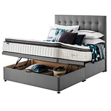 Silentnight Mirapocket Geltex 1000 Ottoman Divan Bed - Grey