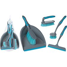 Koopman 5 Pieces Cleaning Set - Turquoise