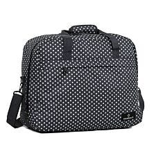 Members by Rock Luggage Essential Carry-On Travel Bag – Black Polka Dot