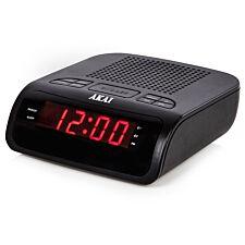 Akai PLL AM/FM Alarm Clock Radio – Black