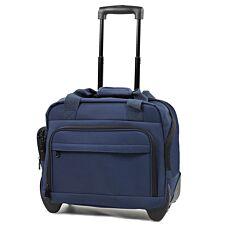 Members by Rock Luggage Essential Laptop Case on Wheels – Navy