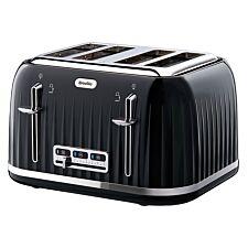 Breville VTT476 Impressions 4–Slice Wide–Slot 2000W Toaster – Black