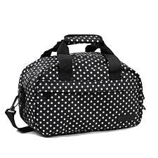 Members by Rock Luggage Essential Under-Seat Hand Luggage Bag – Black Polka Dots