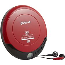 Groov-e Portable CD-Player - Red
