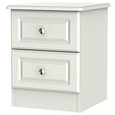 Montego 2-Drawer Bedside Table - Ash Grey