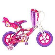"""Sonic 12"""" Daisy Girls Bike – Pink / White"""