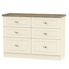 Wilcox 6-Drawer Midi Chest of Drawers - Cream Ash