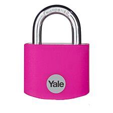 Yale Aluminium Padlock 32mm - Pink