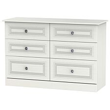 Otega 6-Drawer Midi Chest of Drawers -White