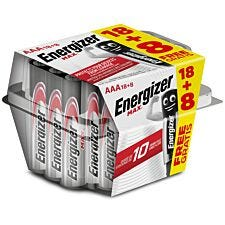Energizer Max AAA Batteries - 18 + 8 Pack