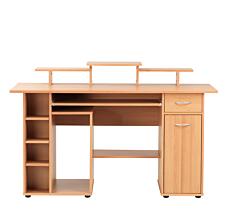 Alphason San Diego Home Office Desk - Beech