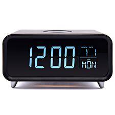 Groov-e Athena Alarm Clock & Wireless Charger - Black