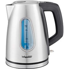 Infapower 1.8L 3000W Rapid Boil Cordless Kettle - Stainless Steel
