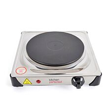 Lloytron Kitchen Perfected 1500W Single Hotplate - Stainless Steel