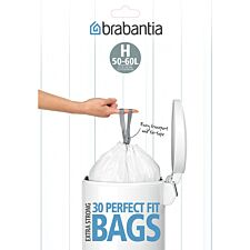 Brabantia PerfectFit 50-60L Size H Bin Liners - Pack of 30