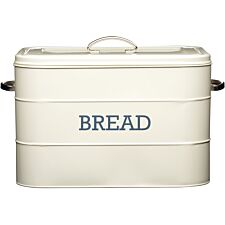 KitchenCraft Living Nostalgia Bread Bin - Cream
