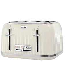 Breville Impressions 4-Slice Wide-Slot Toaster - Cream