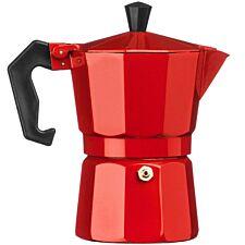 Premier Housewares 3-Cup Espresso Maker - Red
