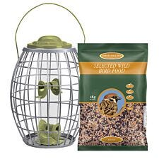 Chapelwood Hanging Ultra Squirrel Proof Bird Feeder with Wild Bird Seed