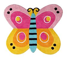 Premier Housewares 100% Cotton Butterfly Rug
