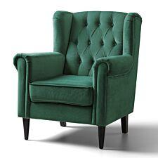 Cambridge Accent Chair Velvet Jasper Black Legs