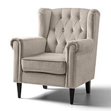 Cambridge Accent Chair Velvet Putty Black Legs