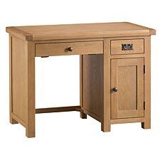 Graceford Ready Assembled 3-Drawer Oak Computer Table