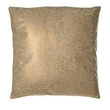 Premier Housewares Kensington Townhouse Leather Effect Cushion - Gold Crush