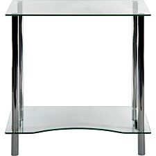 Teknik Crystal Workstation with Tempered Clear Glass