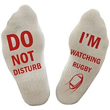 """Flo Socks """"Do Not Disturb"""" - White"""