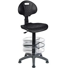 Teknik Office Labour Draughting Polyurethane Chair with a Deluxe Ring Kit Conversion with Movable Footrest
