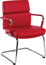 Teknik Deco Faux Leather Visitors Chair – Red