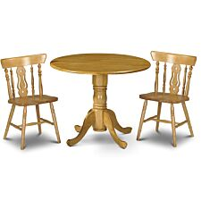 Julian Bowen Set of Dundee Table & 2 Yorkshire Chairs