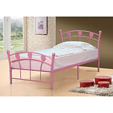 Elsie Single Bed Frame - Pink