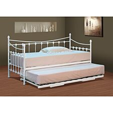 Emerson Single Day Bed With Trundle - White