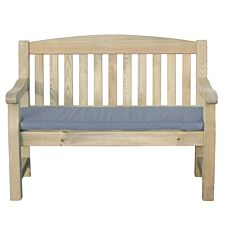 Zest4Leisure Emily 2-Seater Bench and Cushion - Grey