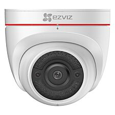 EZVIZ C4W Full HD Outdoor Smart Security Turret Cam with Night Vision, Siren & Strobe Light - White