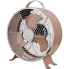 Status 8 Inch Retro Clock Shape Fan - Copper