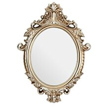 Premier Housewares Garlanded Oval Wall Mirror - Champagne