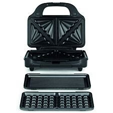 Salter 3-in-1 Deep Fill Sandwich and Waffle Maker