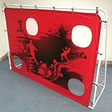 Charles Bentley 3-in-1 Target Shoot Sturdy Steel Frame Football Goal & Net - 7ft X 5ft